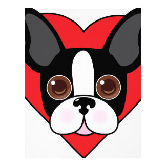 Boston Terrier Face Letterhead