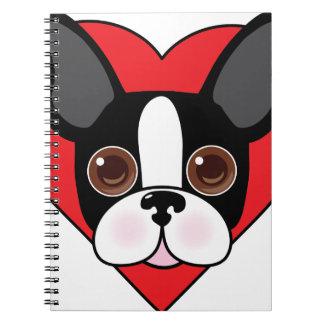 Boston Terrier Face Notebook