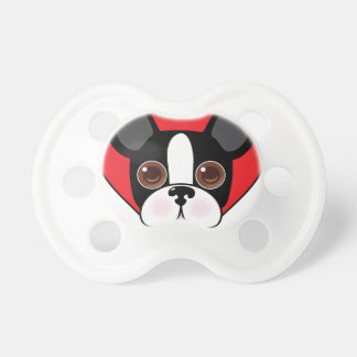 Boston Terrier Face Pacifier