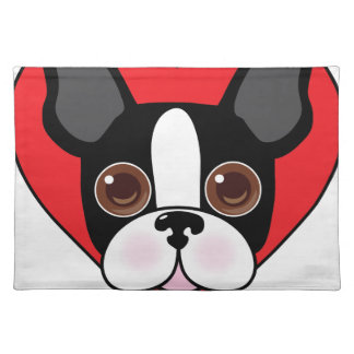 Boston Terrier Face Placemat