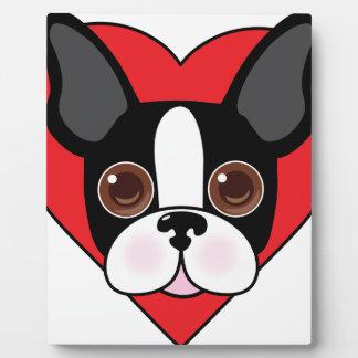 Boston Terrier Face Plaque