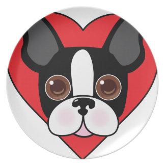 Boston Terrier Face Plate