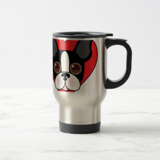 Boston Terrier Face Travel Mug