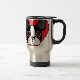 Boston Terrier Face Travel Mug