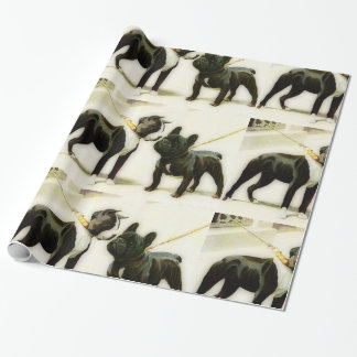 BOSTON TERRIER&FRENCH BULLDOG WRAPPING PAPER