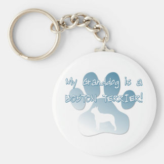 Boston Terrier Granddog Keychain