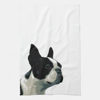 Boston terrier hand towels