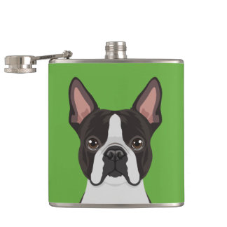 Boston Terrier Hip Flask