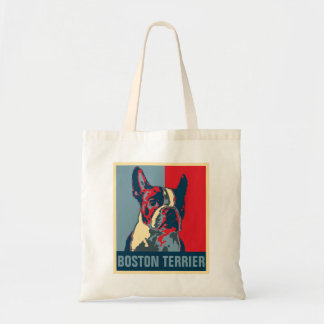 Boston Terrier Hope Inspired Tote Bag