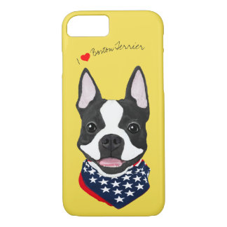 Boston Terrier Illustrated Cell Phone Case