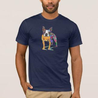 Boston Terrier in graffiti T-Shirt
