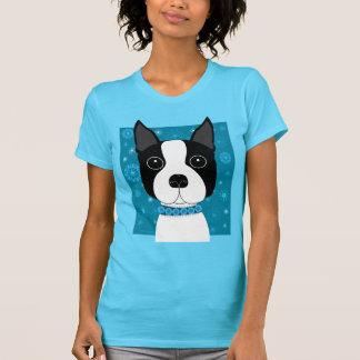Boston Terrier in Winter T-Shirt