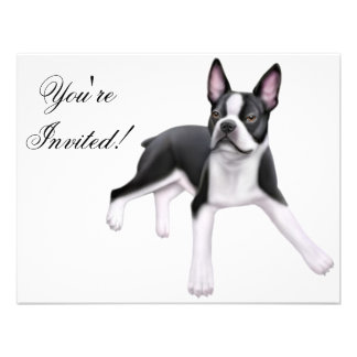 Boston Terrier Invitation