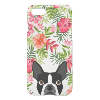 Boston Terrier iphone case, hawaiian tropical case