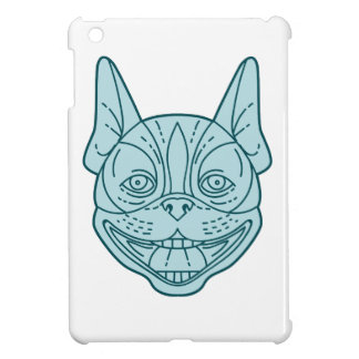 Boston Terrier Laughing Circle Mono Line iPad Mini Cases