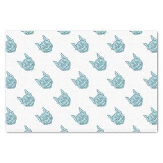 Boston Terrier Laughing Circle Mono Line Tissue Paper