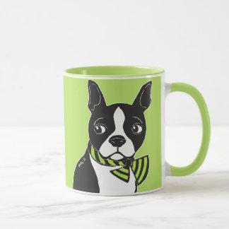 Boston Terrier Lime Green Mug