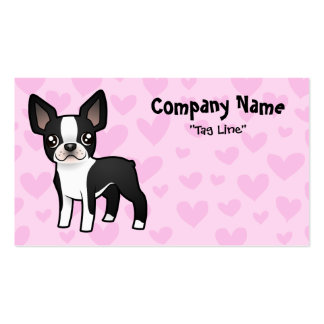 Boston Terrier Love Business Card Template