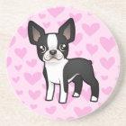 Boston Terrier Love Coaster