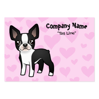 Boston Terrier Love Large Business Card