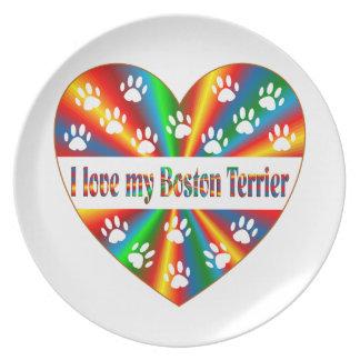 Boston Terrier Love Plate