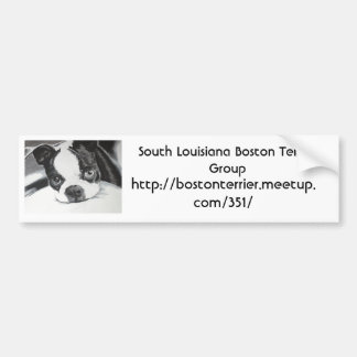 Boston Terrier Meetup Group Bumper Sticker