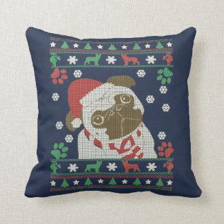 Boston Terrier - Merry Christmas Throw Pillow