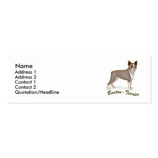 Boston Terrier Mini Business Card