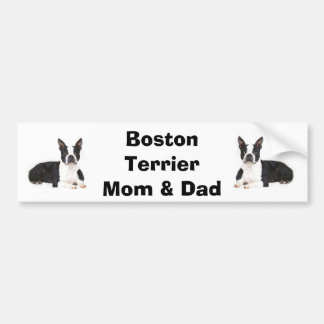 Boston Terrier Mom & Dad Bumper Sticker