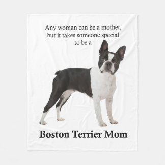 Boston Terrier Mom Fleece Blanket