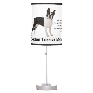 Boston Terrier Mom Lamp