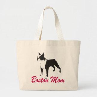 Boston Terrier Mom Large Tote Bag