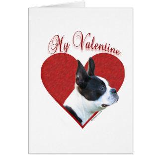 Boston Terrier My Valentine Greeting Card
