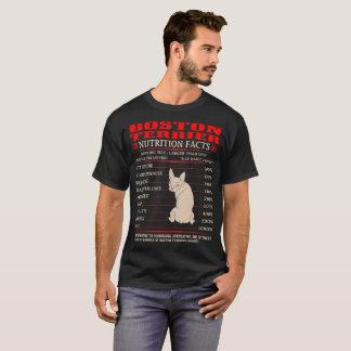 Boston Terrier Nutrition Facts Stubborn Mischief T-Shirt