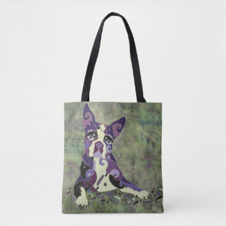 Boston Terrier or French Bull Dog Tote Bag