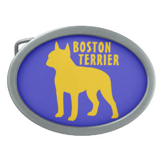 Boston Terrier Oval Belt Buckle