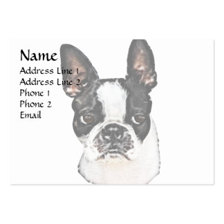 Boston Terrier Pack Of Chubby Business Cards