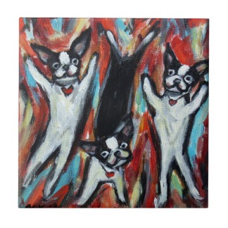Boston Terrier Party Love Tile