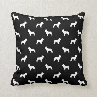 Boston Terrier pattern pillow