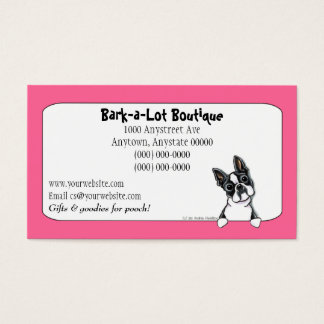 Boston Terrier Pet Industry Custom Border Business Card