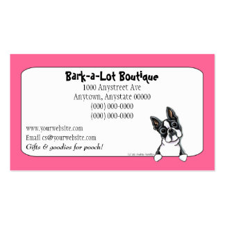 Boston Terrier Pet Industry Custom Border Pack Of Standard Business Cards