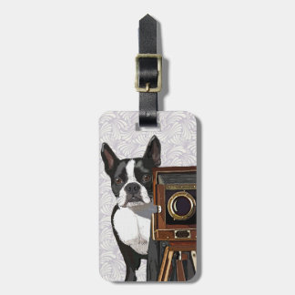 Boston Terrier Photographer 2 Luggage Tag