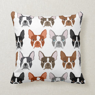 Boston Terrier pillow - cute colors boston terrier