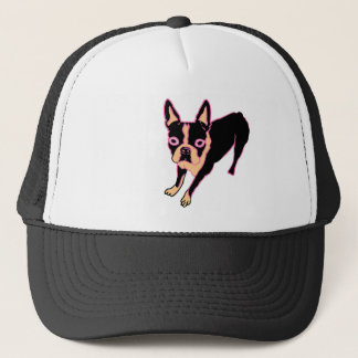 Boston Terrier (pink/blk) Trucker Hat