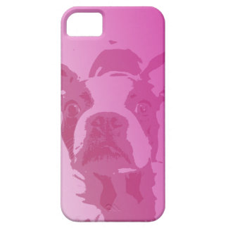 Boston Terrier Pink iPhone 5 iPhone 5 Cases