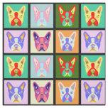 Boston Terrier Pop Art Fabric