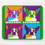 Boston Terrier Pop Art Mouse Pad
