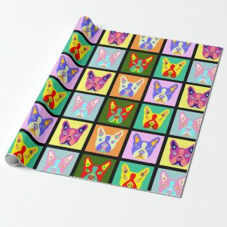 Boston Terrier Pop Art Wrapping Paper