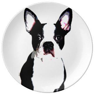 Boston Terrier Porcelain Plates