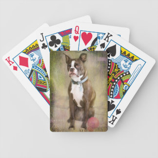 "Boston Terrier ""Portrait of a Gentleman"" Bicycle Playing Cards"